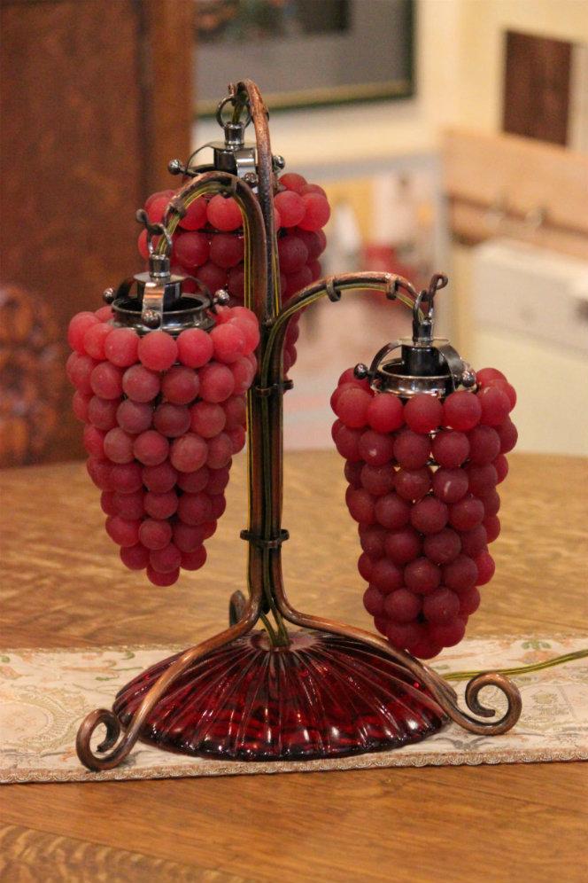 ベネチアガラス葡萄3灯ライト